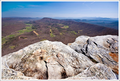 McAfee Knob's View of the Catawba Valley