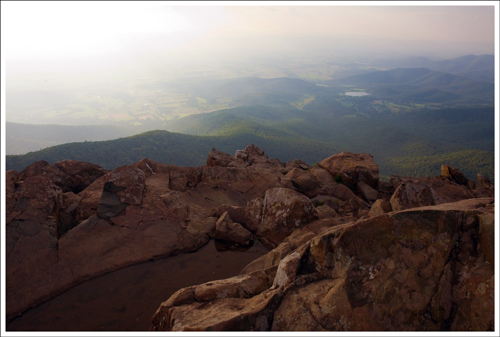 The haze seen from Stony Man Summit was so milky and thick.