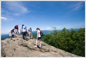 The summit of Humpback Rock is almost always crowded.