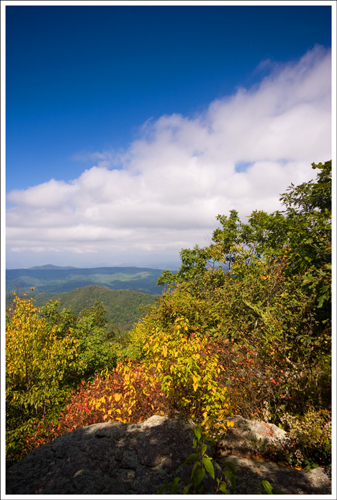 The first lookout point along the Appalachian Trail was already showing some signs of fall.