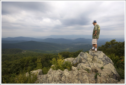 It wasn't the prettiest day for hiking, but the view from Hightop was still impressive.  Hightop is the tallest peak in the south district of the park.
