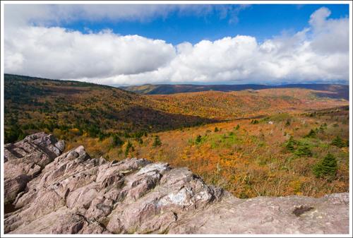We had beautiful autumn views hiking back down Mt. Rogers
