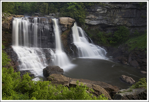 The main attraction in Blackwater Falls State Park
