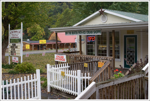 The trail offers many charming places to stop for a delicious lunch or snack