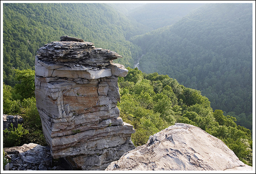 The view from Lindy Point looks down into the Blackwater Canyon.