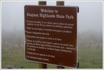 The sign at Grayson Highlands State Park misspelled the word Alcoholic