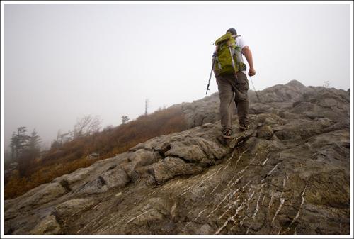 The Wilburn Rock scramble was slippery, but fun.