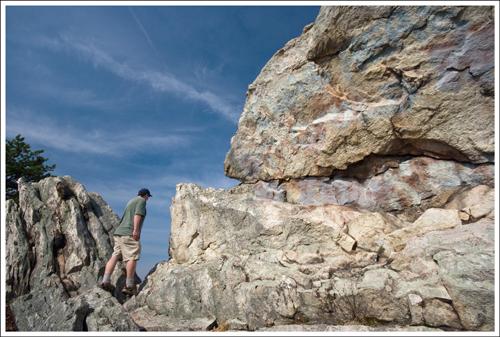 Adam on Buzzard Rock