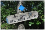 Trail Sign at Peak