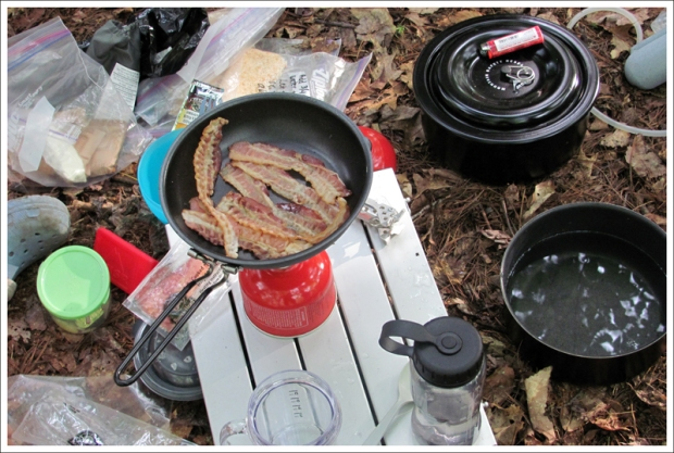 Bacon at Camp