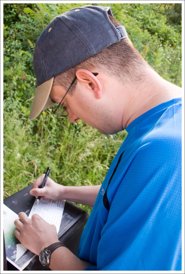 Filling Out Paperwork for a Backcountry Permit