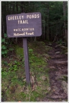 Greeley Ponds Trail Sign
