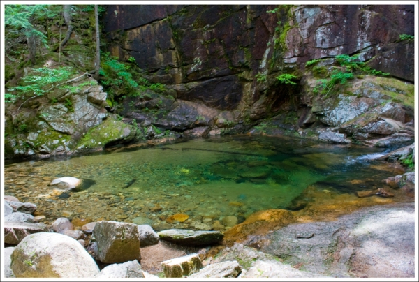 The Pool at the base of Sabbaday Falls