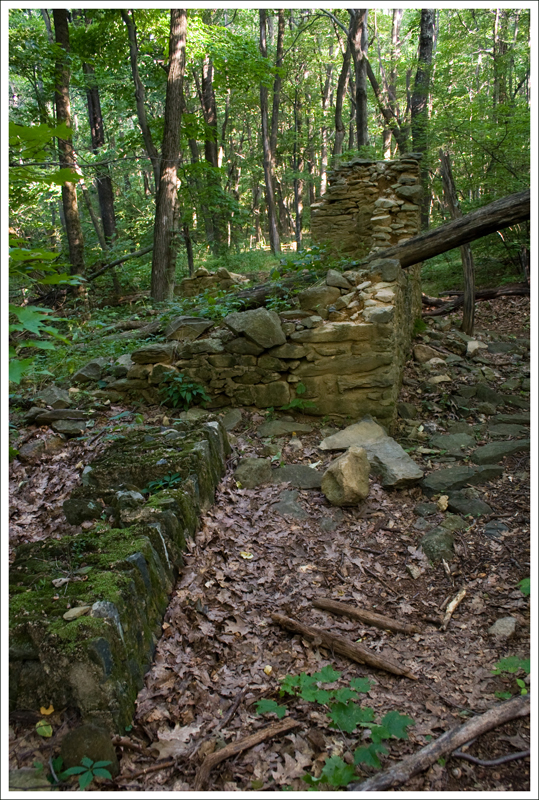 Old Church Walls and Fallen Chimney