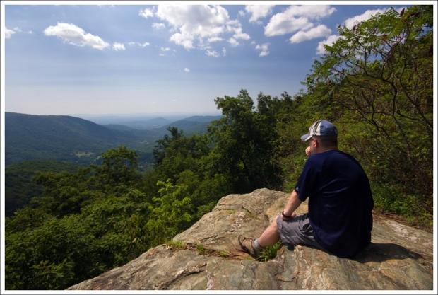 Adam Enjoys the View of Powell Gap