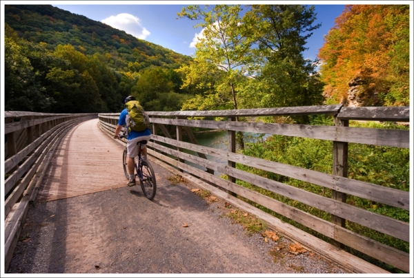 Biking the Greenbrier River Trail