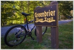Greenbrier River Trail Sign with Bike