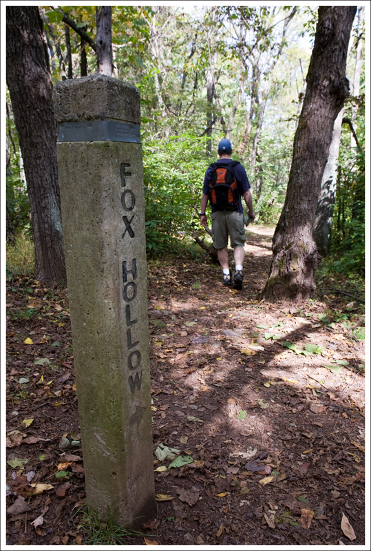 Fox Hollow trail marker