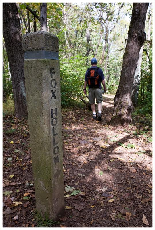 Fox Hollow trail marker