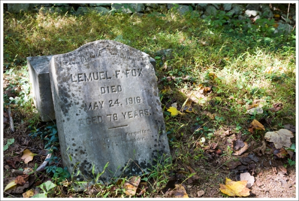 Lemuel F. Fox Headstone