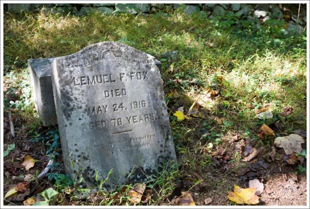 Lemuel F. Fox Headstone