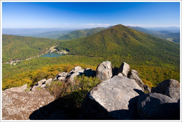 View of Abbot Lake from Sharp Top Summit