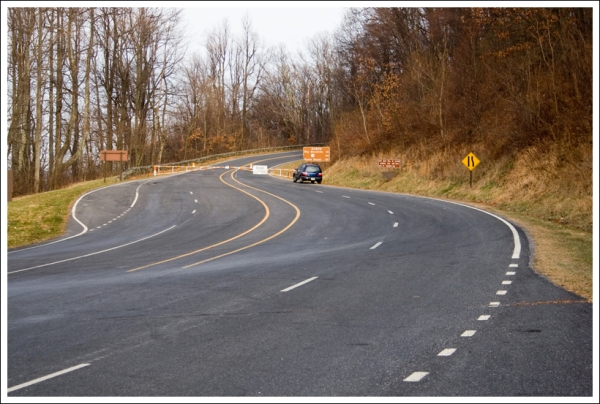 Skyline Drive Closed for Snow