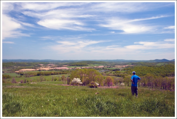 Adam Takes in the View from the Piedmont Overlook