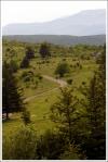 Adam hiking across Massie Gap