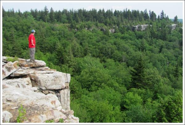 Adam on rohrbaugh cliffs