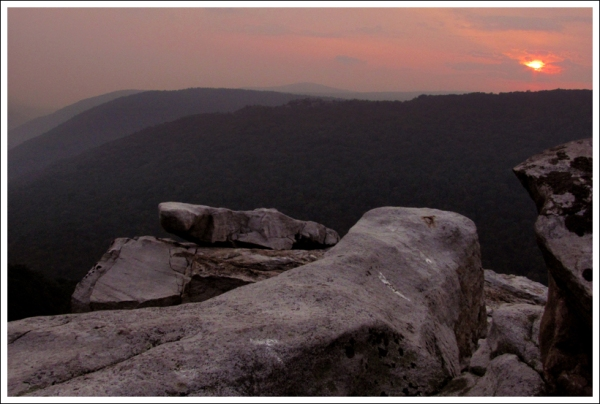 Rohrbaugh Cliffs at Sunset