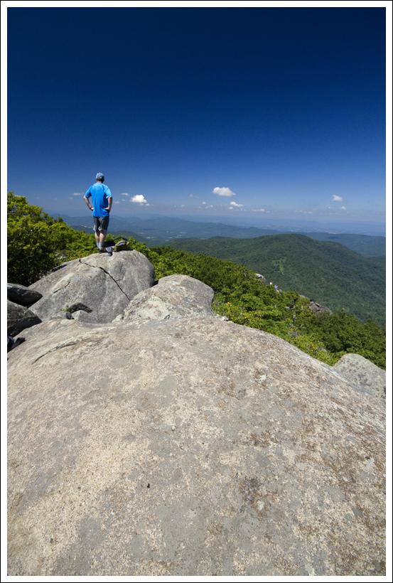 View Just Below the Flat Top Summit