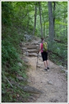 Christine Hiking Up the Trail