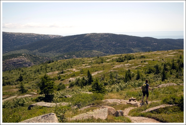 Hiking down Sargent