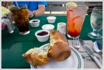 Popover and Strawberry Lemonade