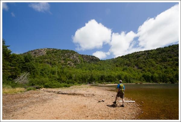 Shore of Jordan Pond -  Looking at the Bubbles
