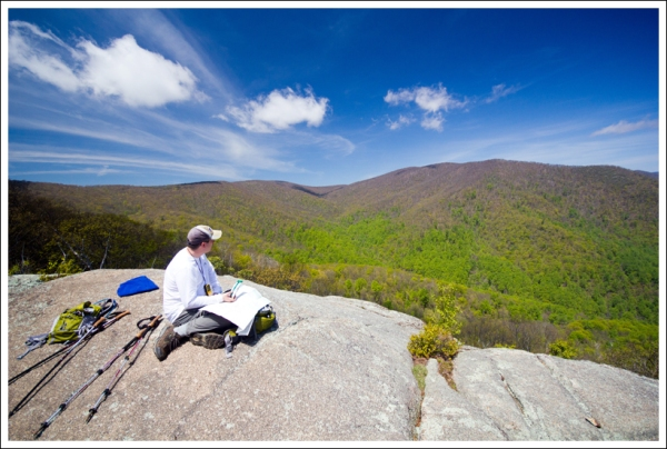 Taking in the View From Bear Church Rock
