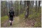 Adam Walking the Neighbor Mountain Trail