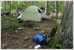 Our Tent Site at Gravel Spring