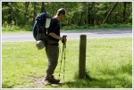 Consulting a Trail Marker
