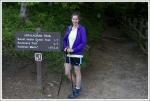 Christine at the Trail's Start