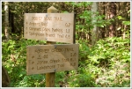 Trail Signs Along Forney Ridge