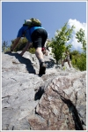 Adam Climbs the Pinnacle at Chimney Tops