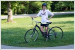 Christine and Her Rented Bike