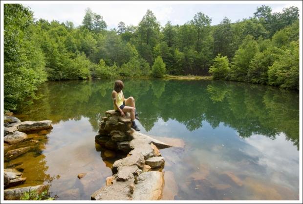 Pond Along the Bird Knob Hike