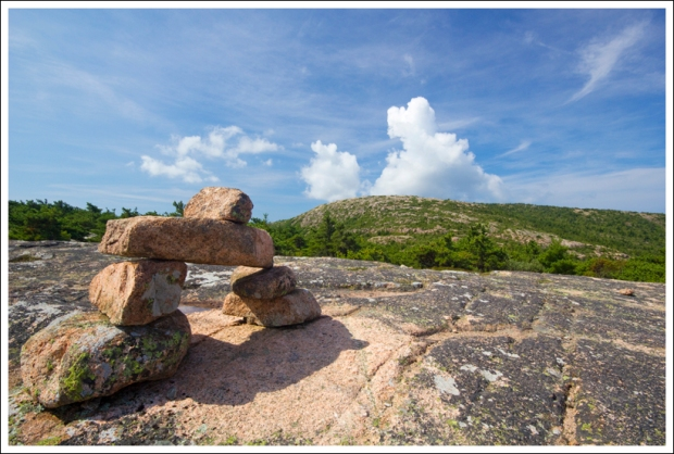 Cairns on Dorr Mountain