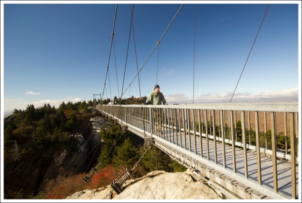 Adam Crosses the Swinging Bridge