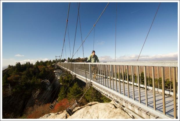 Adam Crosses the Swinging Bridge
