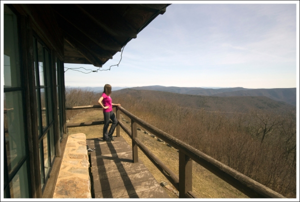 Christine Enjoys the Fire Tower View