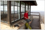 Enjoying a Snack on the Fire Tower